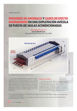 Emisiones de amoniaco y gases de efecto invernadero en una explotación avícola de puesta de jaulas acondicionadas
