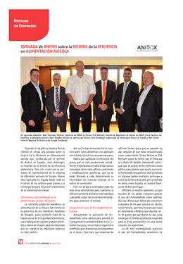 Jornada de Anitox sobre la mejora de la eficiencia en alimentación avícola