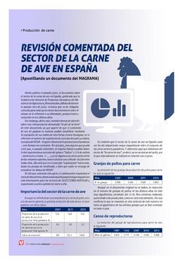 Revisión comentada del sector de la carne de ave en España