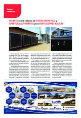 Patente sobre sistema de cierre hermético y apertura automática para ventiladores axiales