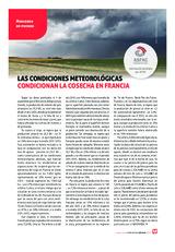 Las condiciones meteorológicas condicionan la cosecha en Francia