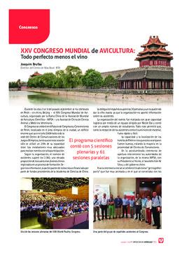 XXV Congreso Mundial de Avicultura: Todo perfecto menos el vino