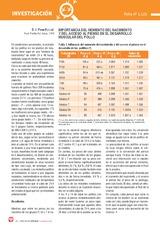 Importancia del MOMENTO DEL NACIMIENTO y del ACCESO AL PIENSO en el desarrollo muscular del pollo
