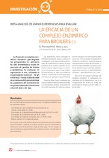 META-ANÁLISIS DE VARIAS EXPERIENCIAS PARA EVALUAR LA EFICACIA DE UN  COMPLEJO ENZIMÁTICO PARA BROILERS (*)