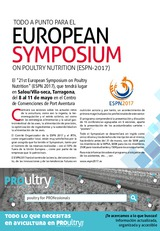 Todo a punto para el EUROPEAN SYMPOSIUM on POULTRY NUTRITION  (ESPN 2017)