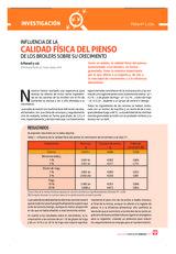 INFLUENCIA DE LA CALIDAD FÍSICA DEL PIENSO DE LOS BROILERS SOBRE SU CRECIMIENTO