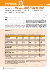 EFECTO DE LOS MANAN-OLIGOSACÁRIDOS sobre la puesta, la digestibilidad y la microflora intestinal de las gallinas
