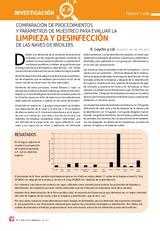 COMPARACIÓN DE PROCEDIMIENTOS Y PARÁMETROS DE MUESTREO PARA EVALUAR LA LIMPIEZA Y DESINFECCIÓN DE LAS NAVES DE BROILERS