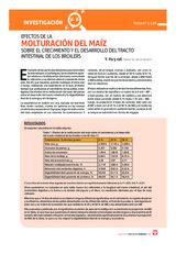 Efectos de la molturación del maíz sobre el crecimiento y el desarrollo del tracto intestinal de los broilers