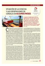 SITUACIÓN DE LA COSECHA Y LAS EXPORTACIONES DE CEREALES EN ALGUNOS PAÍSES