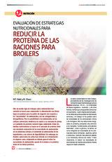 Evaluación de estrategias nutricionales para reducir la proteína de las raciones para broilers