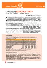 El manejo de los reproductores pesados en la recría y su uniformidad