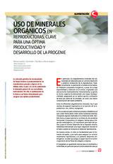Uso de minerales orgánicos en reproductoras
