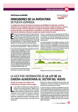 Indicadores de la avicultura de puesta española