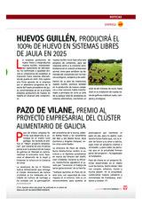Pazo de Vilane, Premio al Proyecto Empresarial del Clúster Alimentario de Galicia