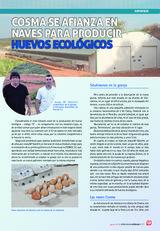 Cosma se afianza en naves para producir huevos ecológicos