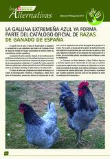 La gallina extremeña azul ya forma parte del catálogo ofical de razas de ganado en españa