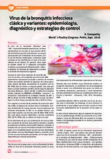 Virus de la bronquitis infecciosa clásica y variantes: epidemiología, diagnóstico y estrategias de control