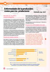 Enfermedades de la producción:  costes para los  productores