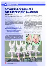 Decomisos de broilers por proceso inflamatorio
