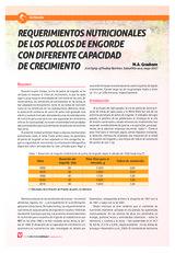 REQUERIMIENTOS NUTRICIONALES  DE LOS POLLOS DE ENGORDE  CON DIFERENTE CAPACIDAD  DE CRECIMIENTO