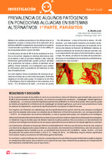 PREVALENCIA DE ALGUNOS PATÓGENOS  EN PONEDORAS ALOJADAS EN SISTEMAS  ALTERNATIVOS: 1ª PARTE, PARÁSITOS