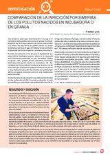 Comparación de la infección por eimerias-de los pollitos nacidos en incubadora o en granja