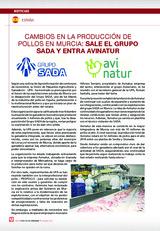 Cambios en la producción de pollos en Múrcia sale el grupo SADA y entra AITANUR