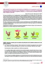 Reglamento sobre normas de comercialización de los huevos de gallinas camperas sin espacios al aire libre