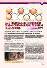 California: 35% de disminución censo ponedoras por las nuevas regulaciones