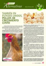 TAMBIÉN EN ESTADOS UNIDOS, POLLOS DE CRECIMIENTO LENTO