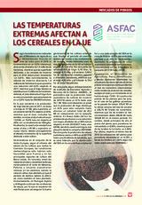 Las temperaturas extremas afectan a los cereales en la UE