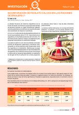 INCORPORACIÓN DE PIDOLATO CÁLCICO EN LAS RACIONES DE BROILERS (*)