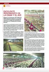 EXCELENTE RENDIMIENTO DE LA CAMA Y EL AVE