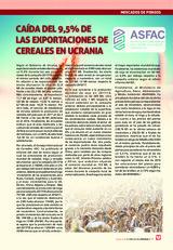 CAÍDA DEL 9,5% DE  LAS EXPORTACIONES DE CEREALES EN UCRANIA