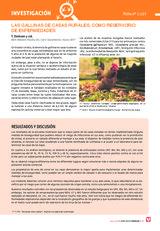 LAS GALLINAS DE CASAS RURALES, COMO RESERVORIO  DE ENFERMEDADES