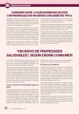 CONSUMIR HASTA 12 HUEVOS/SEMANA NO ESTÁ CONTRAINDICADO EN PACIENTES CON DIABETES TIPO 2