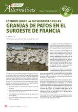 Estudio sobre la bioseguridad en las granjas de patos en el suroeste de Francia