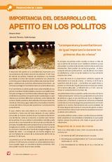Importancia del desarrollo del apetito en los pollitos