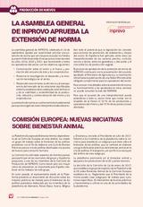 Noticias: La asamblea general de Inprovo aprueba la extensión de norma