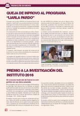Noticias: Premio a la investigación del instituto 2016
