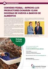 Noticias: Convenio FESBAL - INPROVO: Los productores donarán 12.000 docenas de huevos a bancos de alimentos