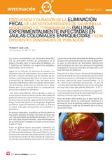 Frecuencia y duración de la eliminación fecal de las serovariedades de salmonella heidelberg y s. typhimurium en gallinas experimentalmente infectadas en jaulas coloniales enriquecidas y con diferentes densidades de población