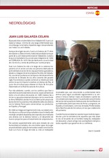 Necrológicas: Juan Luís Galarza Celaya