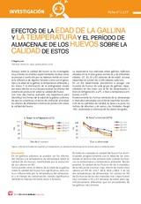 EFECTOS DE LA EDAD DE LA GALLINA Y LA TEMPERATURA Y EL PERÍODO DE ALMACENAJE DE LOS HUEVOS SOBRE LA CALIDAD DE ESTOS