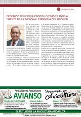 FEDERICO FÉLIX DEJA PROPOLLO TRAS 25 AÑOS AL FRENTE DE LA PATRONAL ESPAÑOLA DEL BROILER
