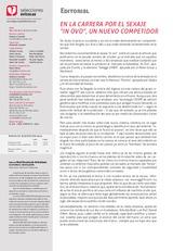 """Editorial EN LA CARRERA POR EL SEXAJE """"IN OVO"""", UN NUEVO COMPETIDOR"""