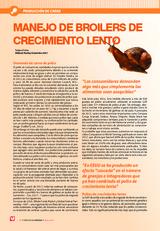 MANEJO DE BROILERS DE CRECIMIENTO LENTO