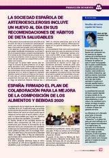 LA SOCIEDAD ESPAÑOLA DE ARTERIOESCLEROSIS INCLUYE UN HUEVO AL DÍA EN SUS RECOMENDACIONES DE HÁBITOS DE DIETA SALUDABLES