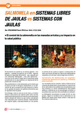 SALMONELA en SISTEMAS LIBRES DE JAULAS vs SISTEMAS CON JAULAS